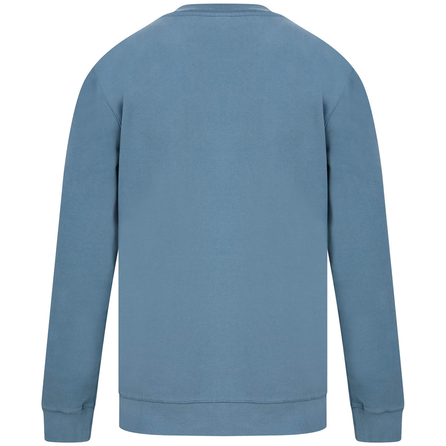 HUGO BOSS L/S WEEVO FITTED JUMPER 50418949 PEBBLE BLUE (026)