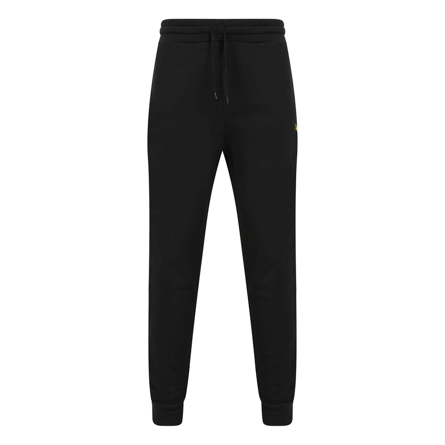 LYLE & SCOTT DRAWSTRING SKINNY JOGGER ML822VTR JET BLACK (Z865)