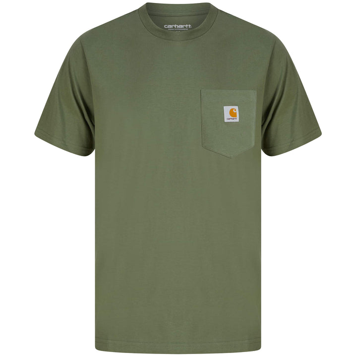 CARHARTT POCKET T-SHIRT I022091 - DOLLAR GREEN