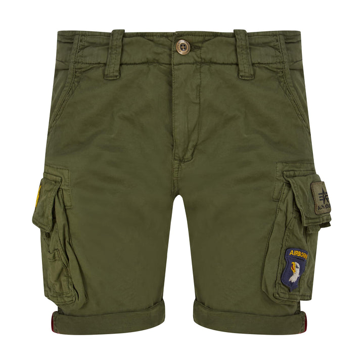 ALPHA INDUSTRIES CREW PATCH CARGO SHORTS 186209 - Dark Olive (142)