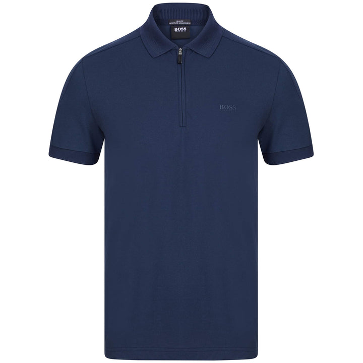 BOSS PHLIX LOGO BRANDED POLO 50441249 NAVY (410)