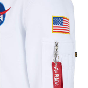 ALPHA INDUSTRIES L/S SPACE SHUTTLE HOODY 178317 WHITE