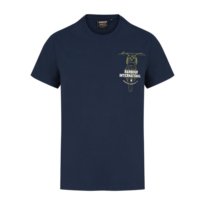 BARBOUR INTERNATIONAL BIKE PRINT T-SHIRT MTS0839 - Navy (NY91)