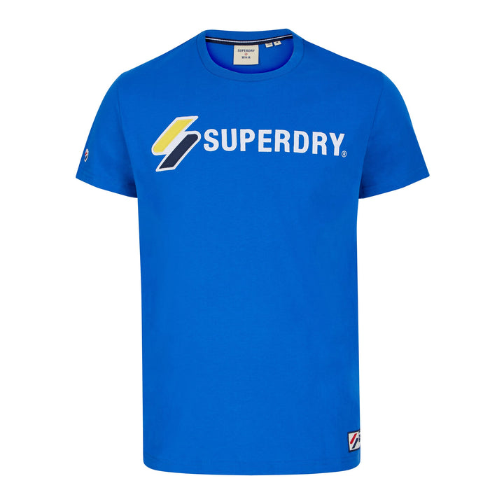 SUPERDRY SPORTSTYLE APPLIQUE T-SHIRT M1010971A - Royal (06G)