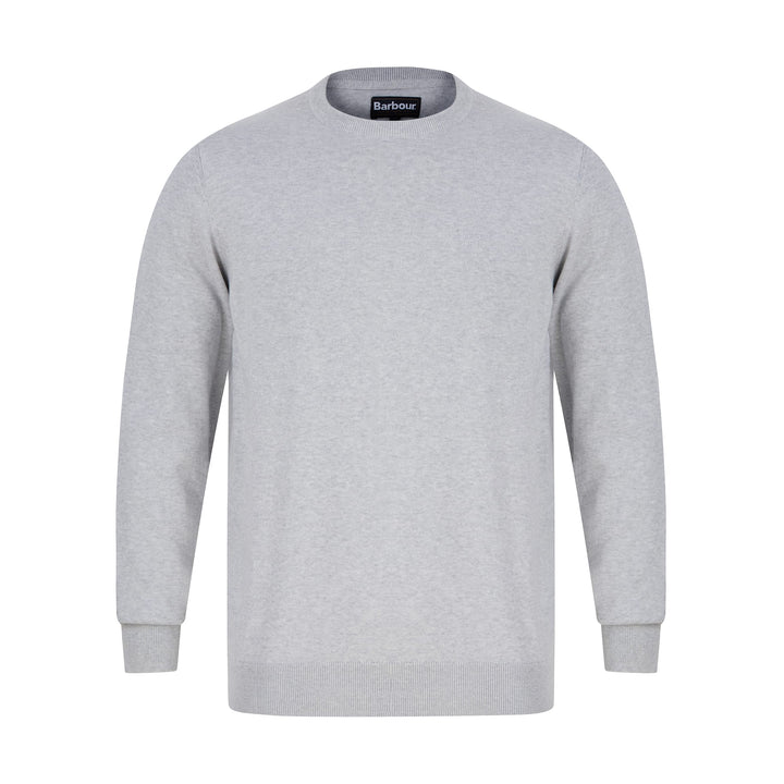 BARBOUR PIMA COTTON KNIT JUMPER MKN0932 - Chalk Marl (ST14)