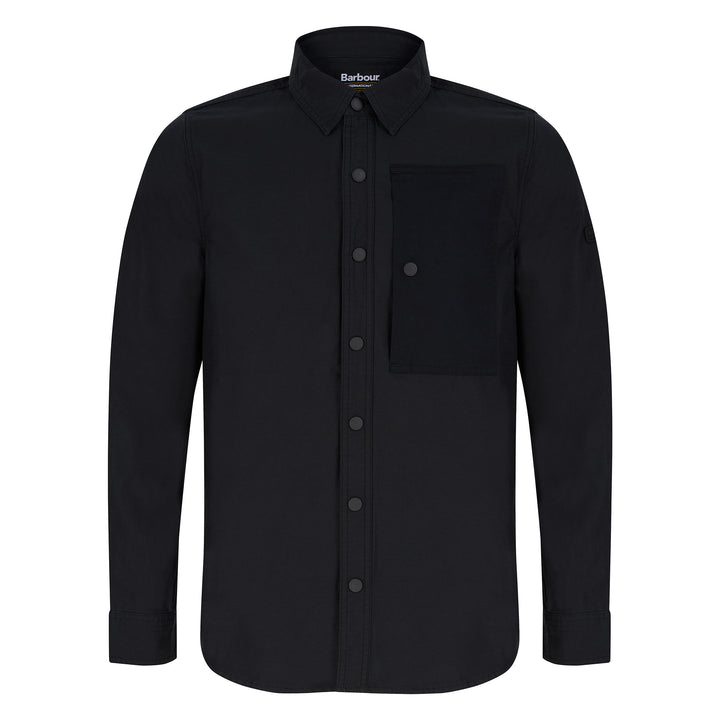 BARBOUR INTERNATIONAL ASSET OVERSHIRT MOS0143 - Black (BK31)