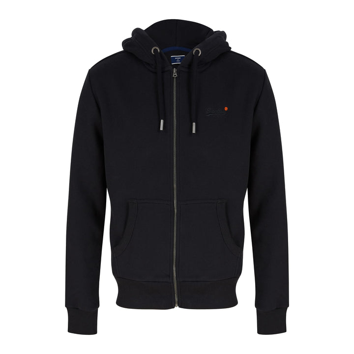 SUPERDRY ORANGE LABEL CLASSIC ZIP HOODIE M2010238A - Black (02A)