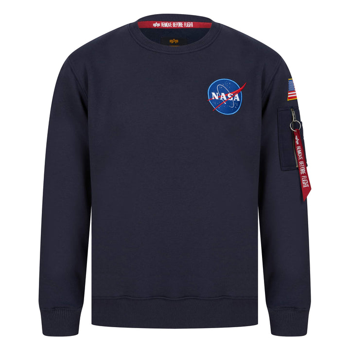 ALPHA INDUSTRIES L/S SPACE SHUTTLE SWEATER 178307 REP BLUE