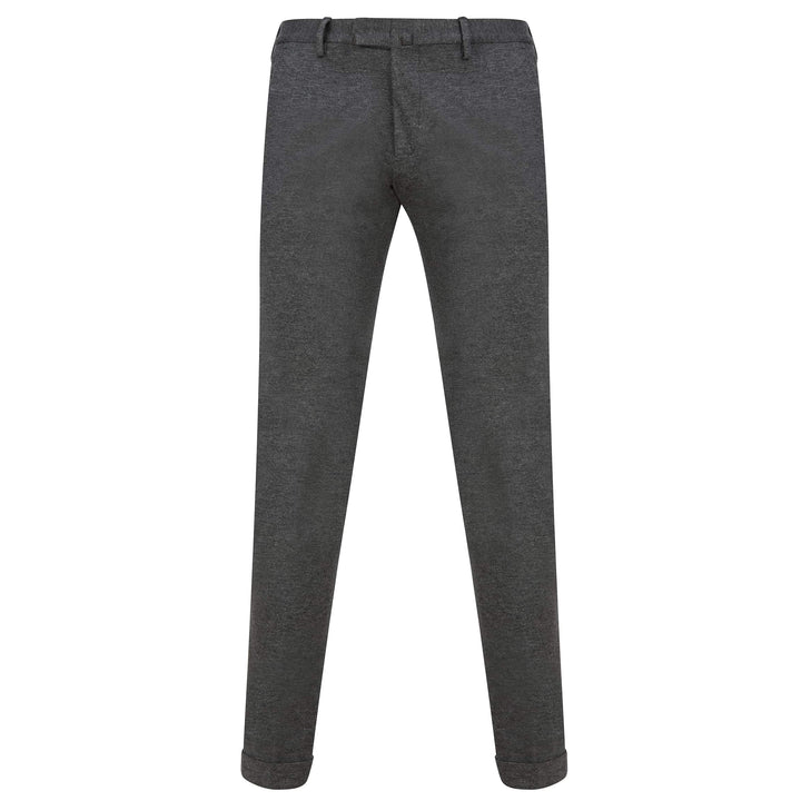 BRIGLIA SLANT POCKET JERSEY FITTED TROUSER BG03P CHARCOAL
