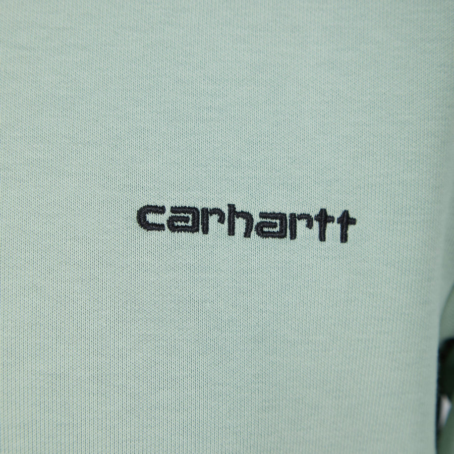 CARHARTT L/S SCRIPT EMBROIDERY JUMPER IO27678 FROSTED GREEN/BLACK