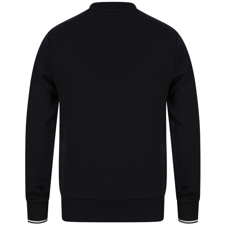 FRED PERRY L/S LOGO BRANDED JUMPER M7535 BLACK