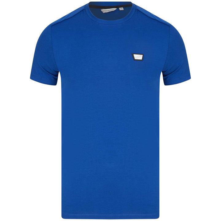 ANTONY MORATO PLAQUE LOGO BRANDED T-SHIRT MMKS01826-FA100144 ROYAL (7090)