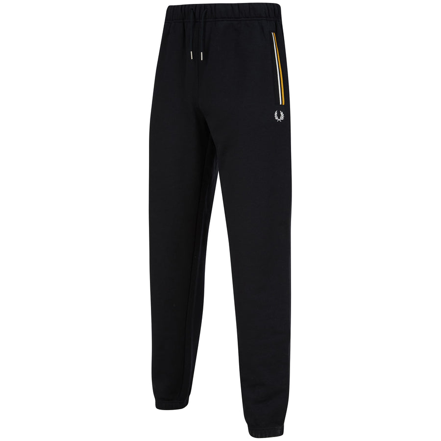FRED PERRY DRAWSTRING LOOPBACK JOGGER T8510 BLACK (184)