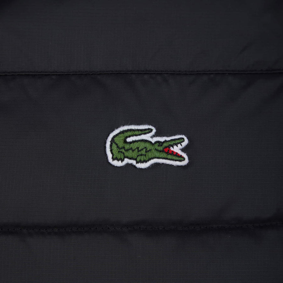 LACOSTE HOODED WATER RESISTANTR QUILTED JACKET BH1531-00 BLACK (C31)