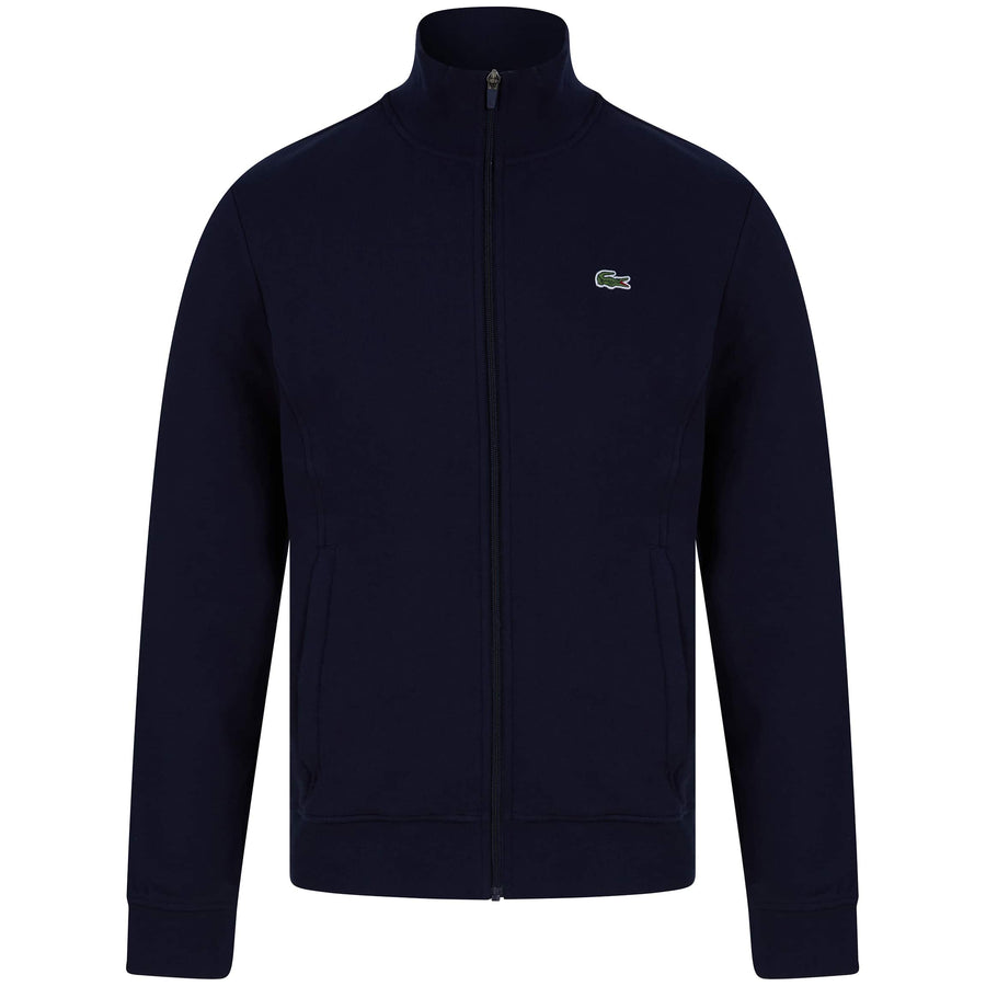 LACOSTE LOGO BRANDED ZIP THRU CARDIGAN SH1559-00 NAVY BLUE (166)