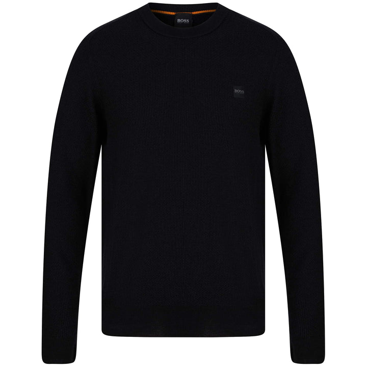 BOSS KUSTORIO LOGO BRANDED JUMPER 50443398 BLACK (001)