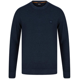BOSS KUSTORIO LOGO BRANDED JUMPER 50443398 DARK BLUE (404)