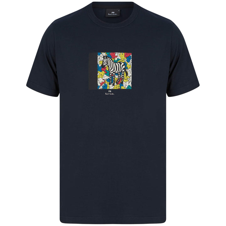 PAUL SMITH ZEBRA BADGE LOGO T-SHIRT M2R-011R-FP2611 NAVY (49)