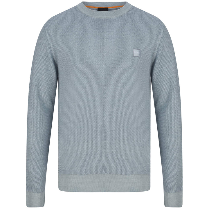 BOSS KUSTORIO LOGO BRANDED JUMPER 50443398 LIGHT PASTEL GREY (053)