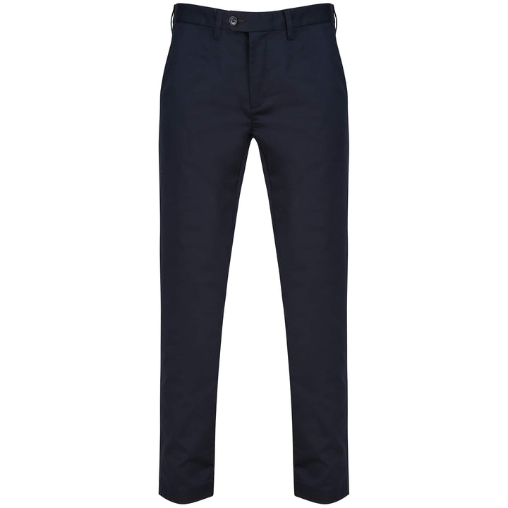TED BAKER SATIN FINISH SLIM FIT CHINO 240821 NAVY