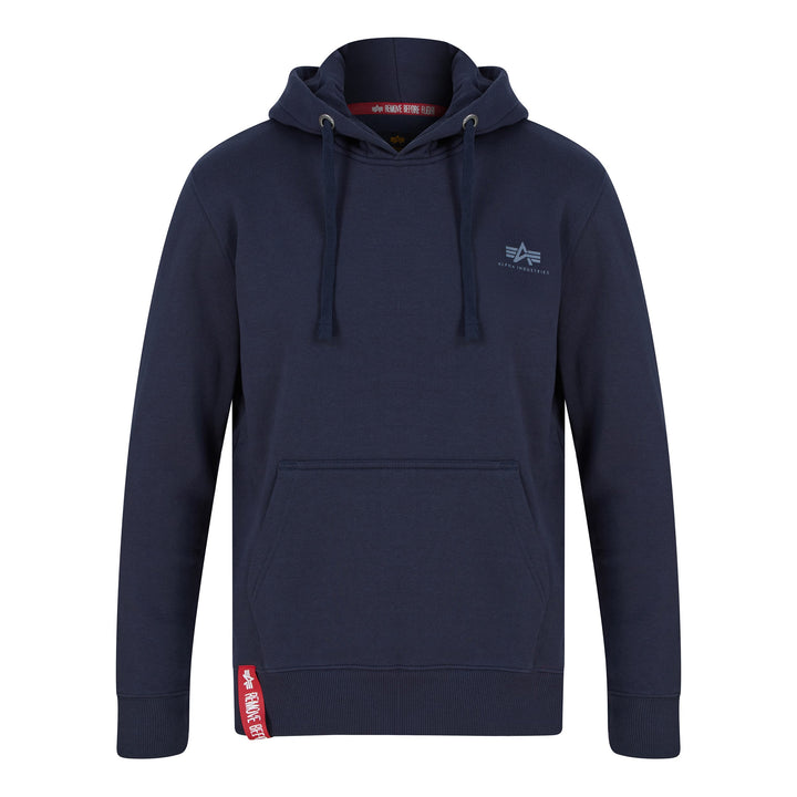 ALPHA INDUSTRIES BASIC SMALL LOGO HOODIE 196318 REP BLUE 07