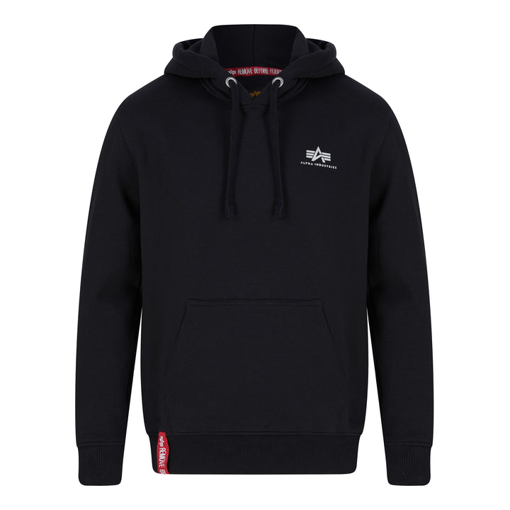 ALPHA INDUSTRIES BASIC SMALL LOGO HOODIE 196318 BLACK 03