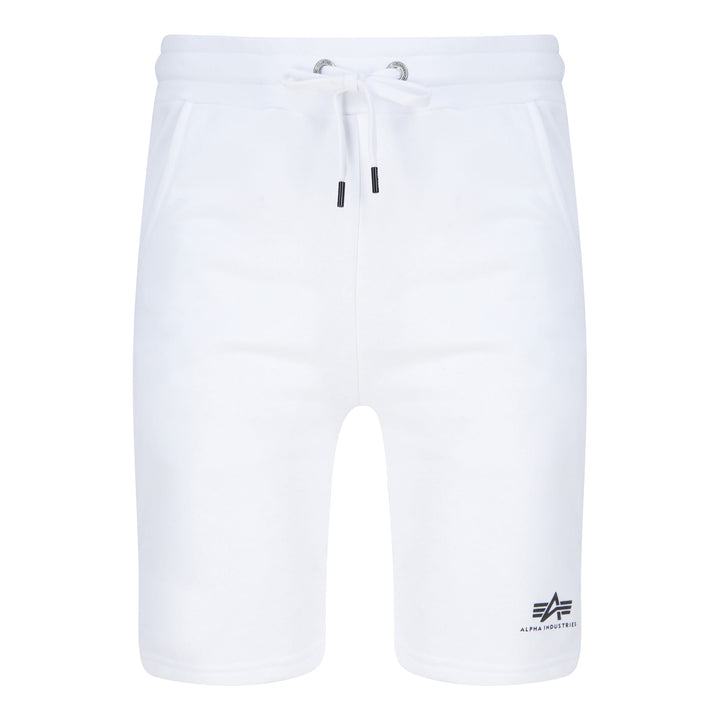 ALPHA INDUSTRIES BASIC SMALL LOGO SWEAT SHORTS 116363 WHITE 09
