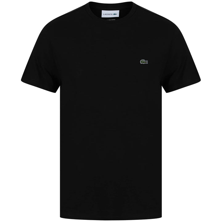 LACOSTE LOGO BRANDED T-SHIRT TH6709-00 BLACK