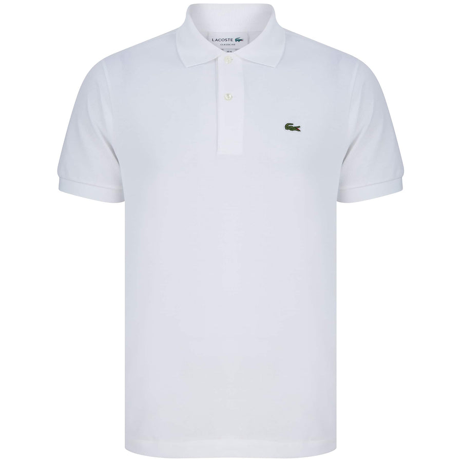 LACOSTE LOGO BRANDED POLO L1212-00 WHITE