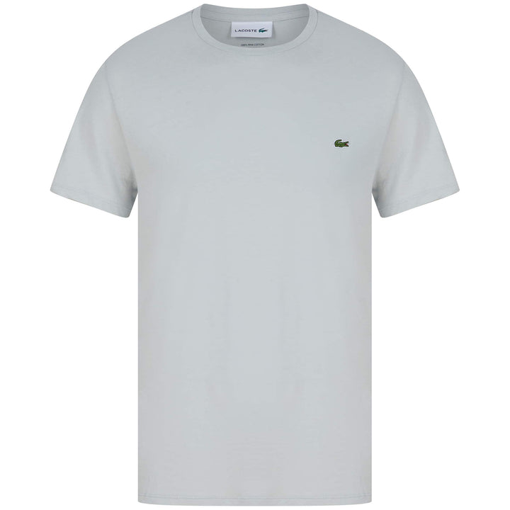 LACOSTE LOGO BRANDED T-SHIRT TH6709-00 PEBBLE GREY (KLW)
