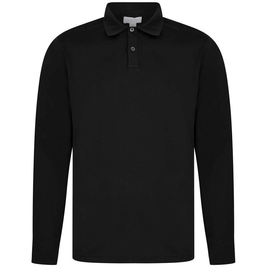 SUNSPEL JERSEY FITTED POLO MPOL1044 BLACK