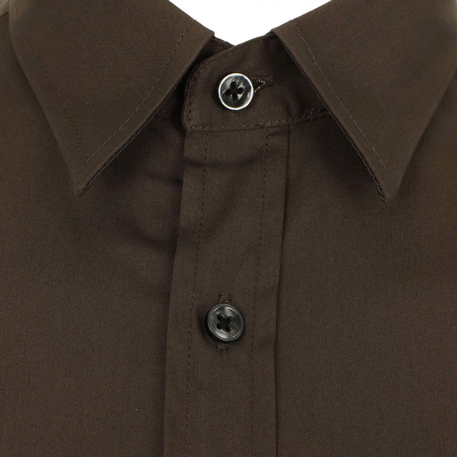 ANTONY MORATO L/S SUPER SLIM FITTED SHIRT MMSL00375/FA450001 KHAKI