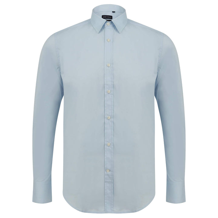 ANTONY MORATO L/S SUPER SLIM FITTED SHIRT MMSL00375/FA450001 SKY BLUE (7027)