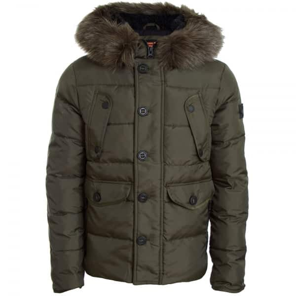 SUPERDRY L/S CHINOOK JACKET M50010GP DARK KHAKI (TSJ)