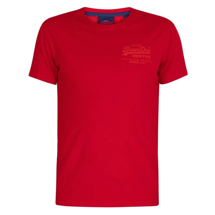 SUPERDRY S/S VL PREMIUM GOODS TONAL INJECTION T-SHIRT M1010067A ROUGE RED
