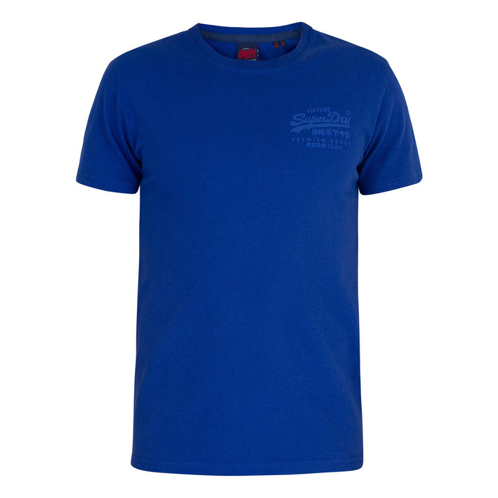 SUPERDRY S/S VL PREMIUM GOODS TONAL INJECTION T-SHIRT M1010067A VIVD COBALT