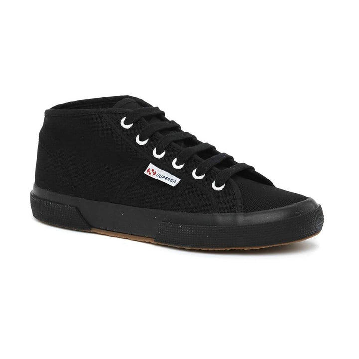 SUPERGA LACE UP MID TRAINER 2754 COTU CLASSIC BLACK