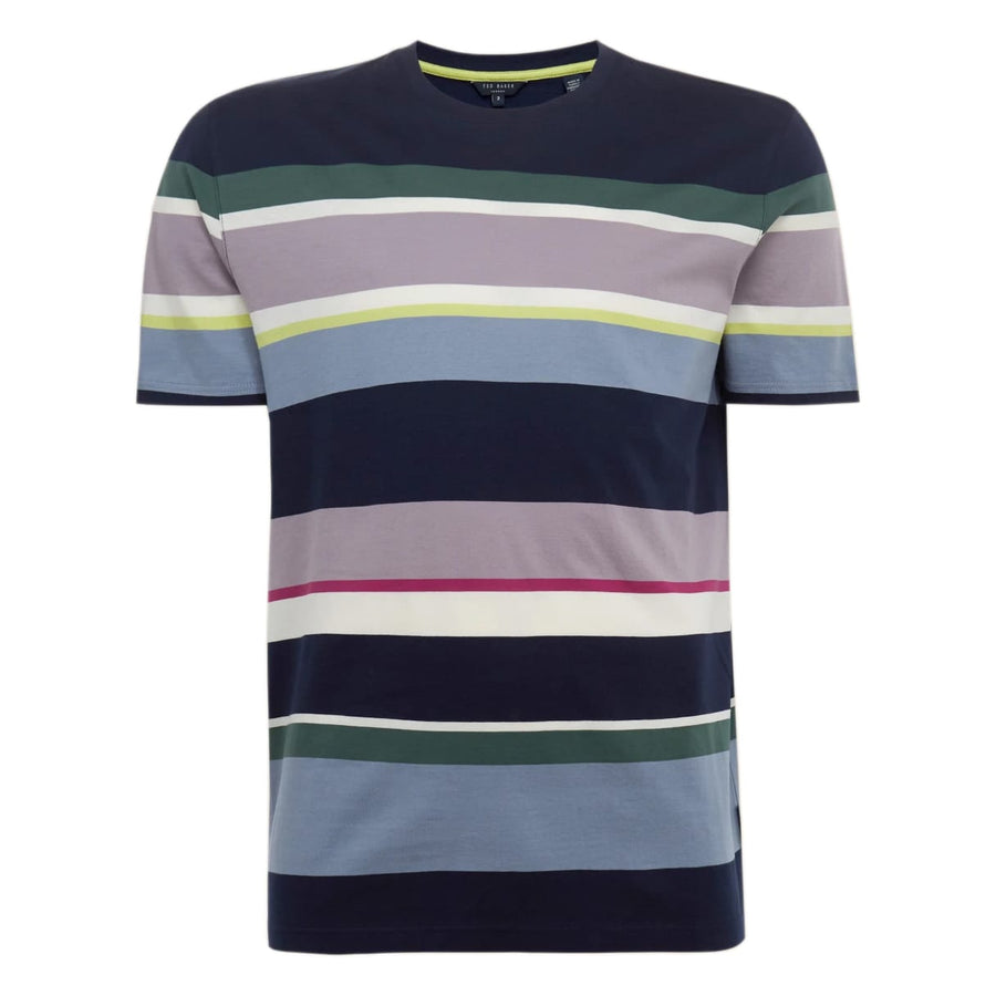 TED BAKER S/S STRIPED T-SHIRT 242437 NAVY