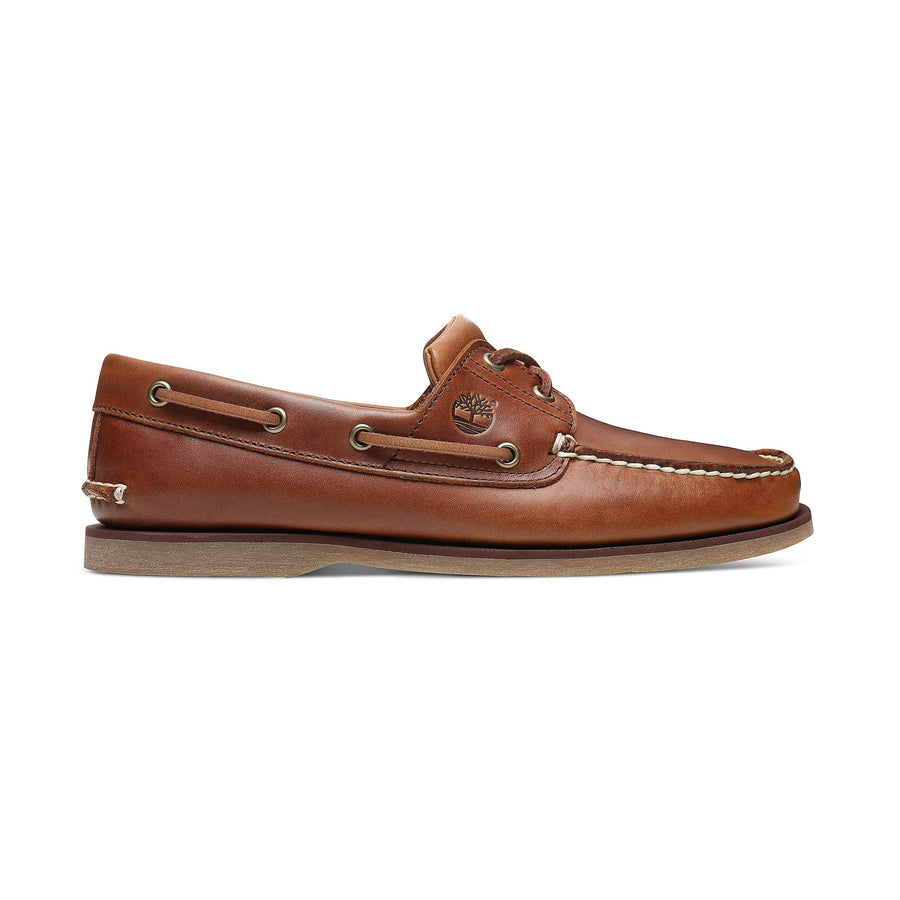 TIMBERLAND 2 EYE CLASSIC LACE UP BOAT SHOE 0A232X MID BROWN