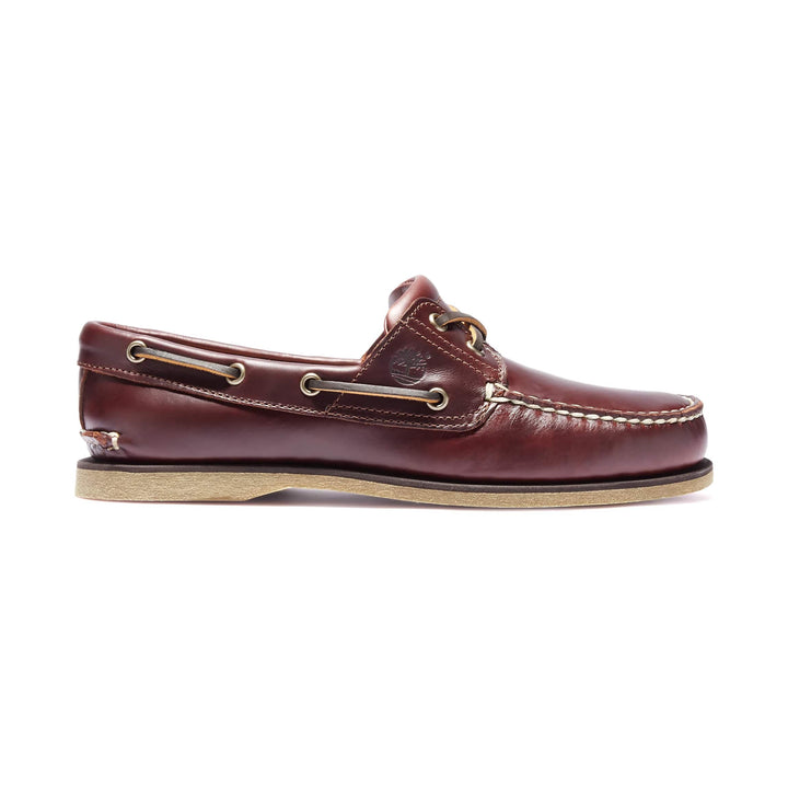 TIMBERLAND 2 EYE LACE UP BOAT SHOE 25077 ROOTBEER