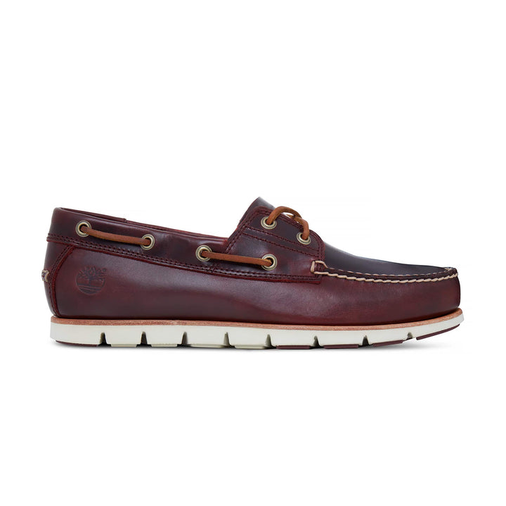 TIMBERLAND TIDELAND 2 EYE LACE UP BOAT SHOE A1BHM REDWOOD