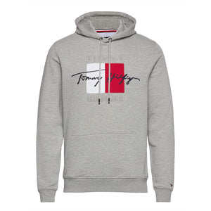TOMMY HILFIGER L/S SIGNATURE ARTWORK HOODY MW14202 MEDIUM GREY HEATHER