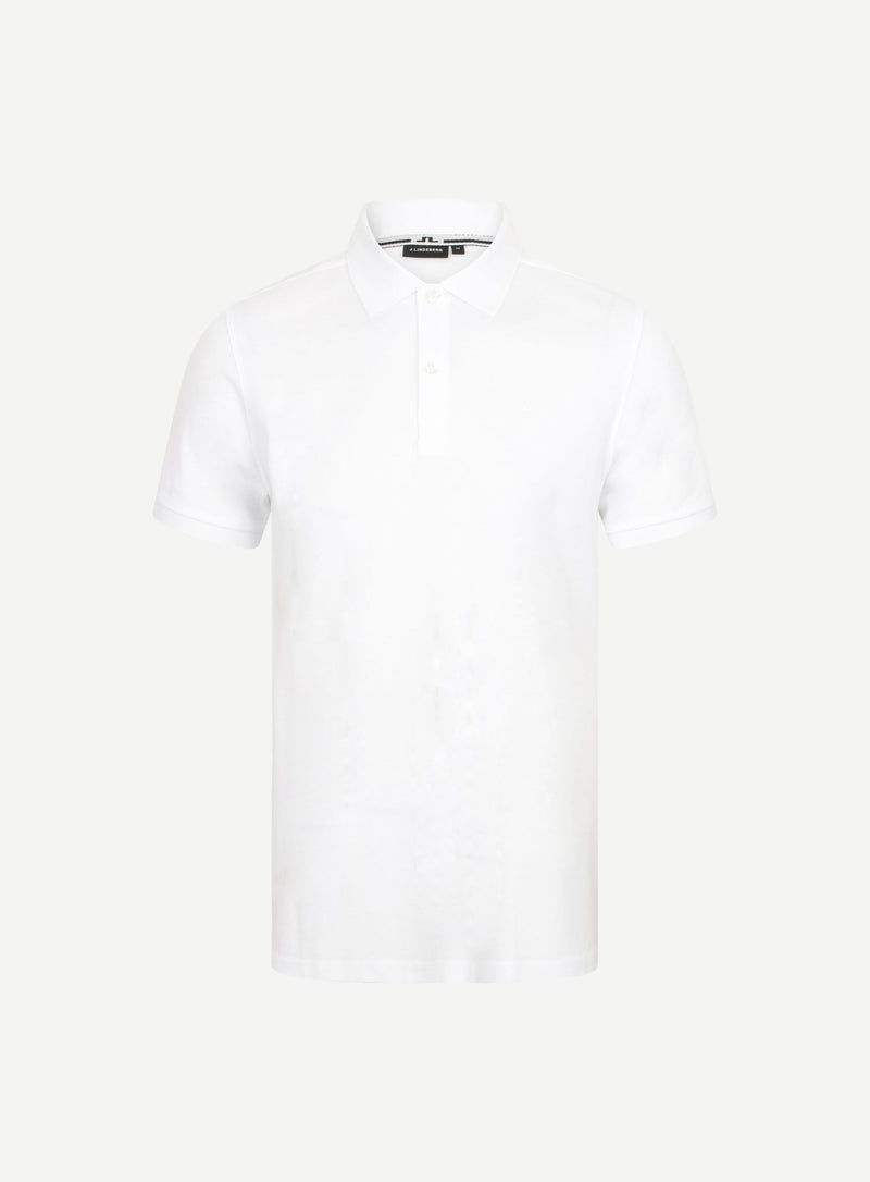 J LINDEBERG S/S TROY POLO - MC5901053 WHITE - mistr-co-uk