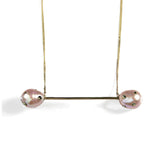 Polka Dot Pearl Baton Necklace