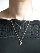 Button Star Necklace