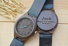 Personalized Mens Wooden Watches Engraved | Birthday Gifts