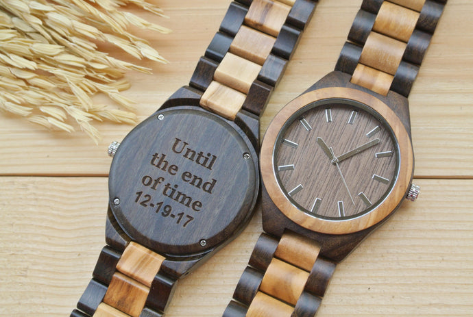 Mens Wood Watch Engraved | Gifts for Husband