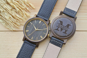 Personalized Engraved Wooden Watch for Men | Mens Gift