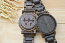 Personalized Engraved Wood Watch for men | Gifts for Dad