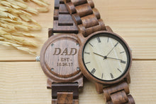 Personalized Mens Wood Watch Engraved | New Dad Gifts